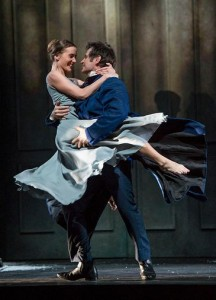 Simon Keenlyside as Eugene Onegin with dancer in Eugene Onegin © ROH / Bill Cooper 2013