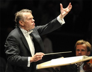 Mariss Jansons conducts the Bavarian Radio Symphony Orchestra at the BBC Proms. Photograph BBC - Chris Christodoulou