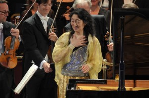 Mitsuko Uchida performs with the Bavarian Radio Symphony Orchestra at the BBC Proms