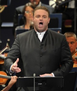 Joseph Calleja performs at the BBC Proms
