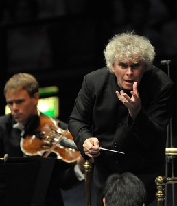 Sir Simon Rattle conducts the Berliner Philharmoniker at the BBC Proms 2014.